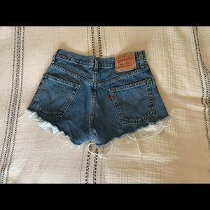 Levi's 505 Shorts with Raw Hem